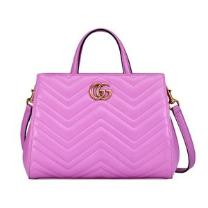 Gucci GG Marmont Small Matelassé Leather Tote